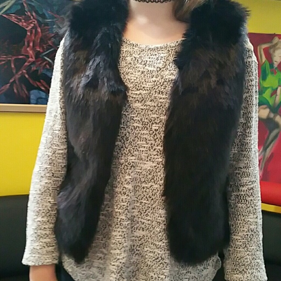 Justice Other - 30%/4.JUSTICE FAUX FUR BEST BLACK SIZE 8-10